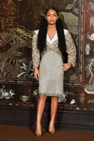 Chanel Metiers D'Art 2019-2020 : Photocall At Le Grand Palais