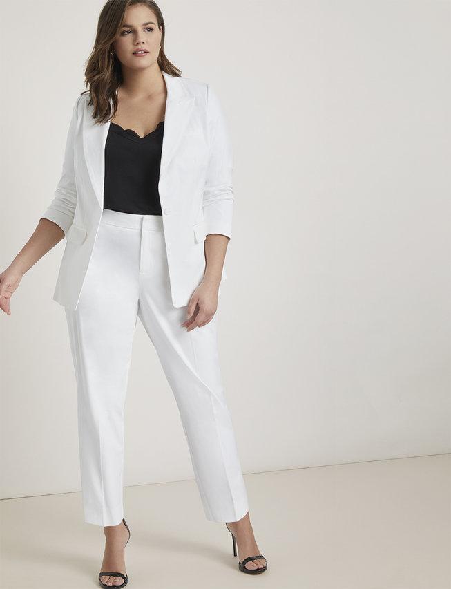 ELOQUII Plus Size White Suit