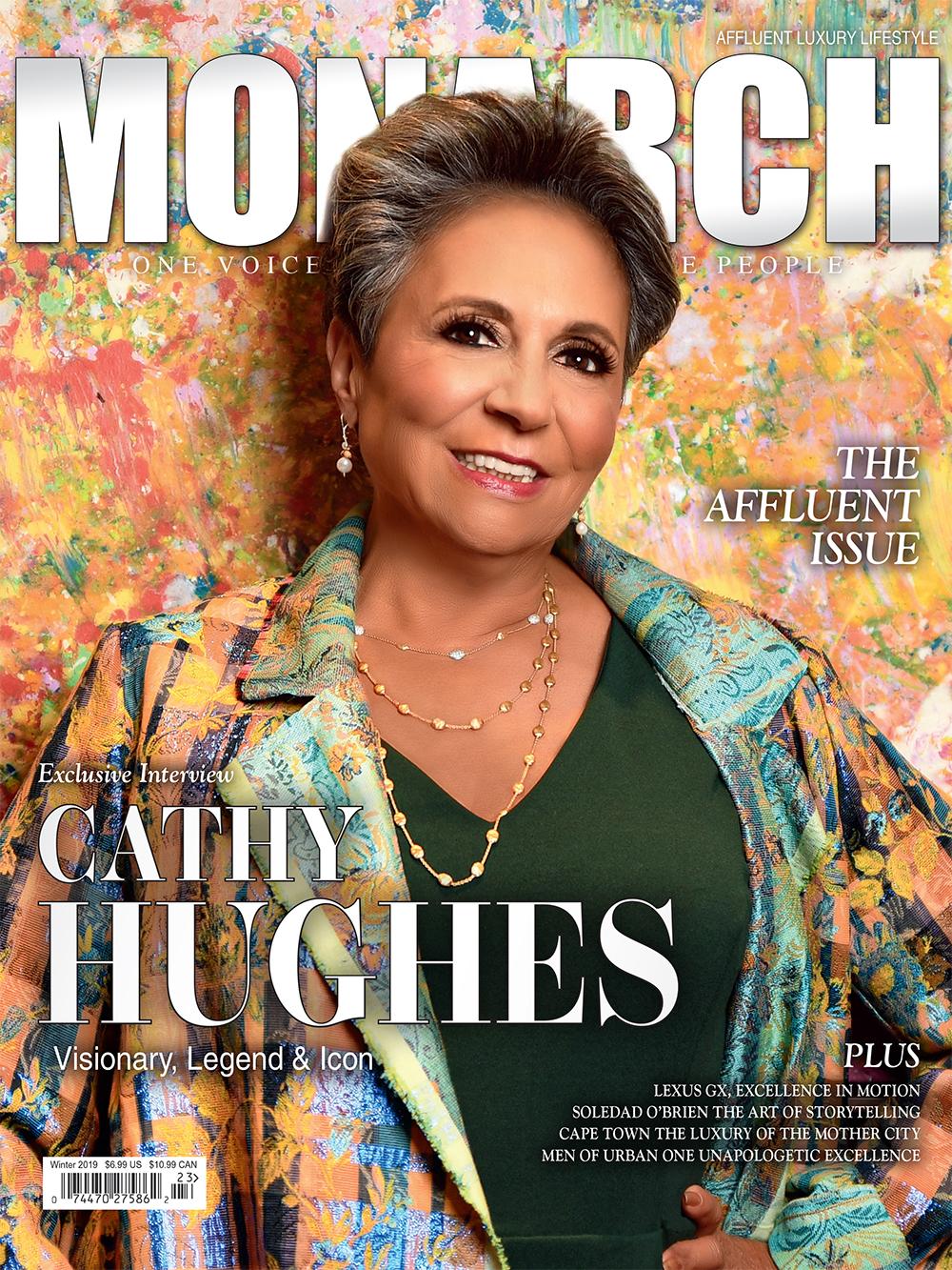 Cathy Hughes, MONARCH Magazine cover