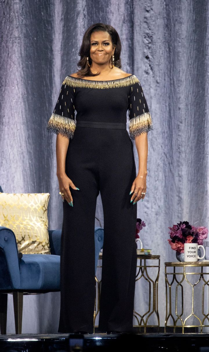MICHELLE OBAMA AT THE BECOMING: AN INTIMATE CONVERSATION WITH MICHELLE OBAMA, 2019