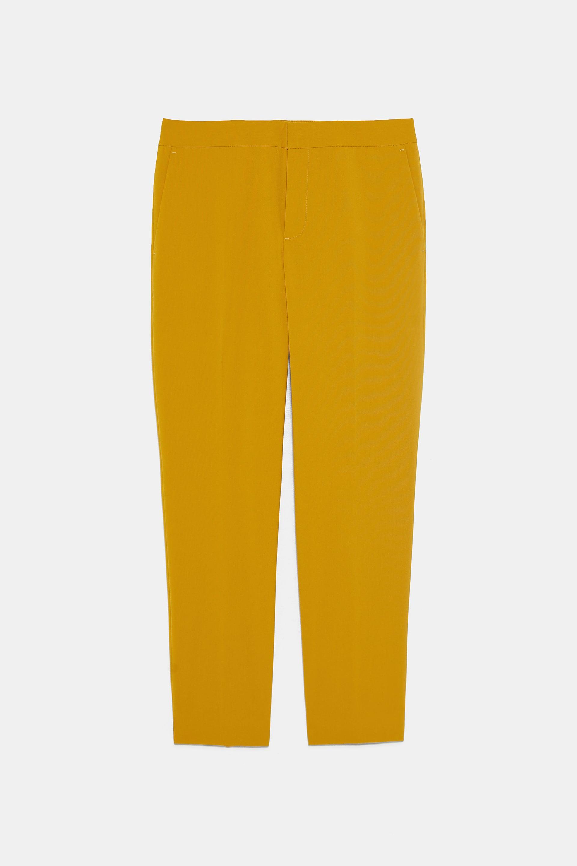 Zara Ankle Pants In Mustard