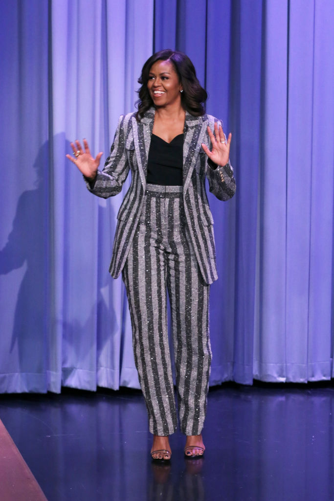 MICHELLE OBAMA AT THE TONIGHT SHOW STARRING JIMMY FALLON, 2018