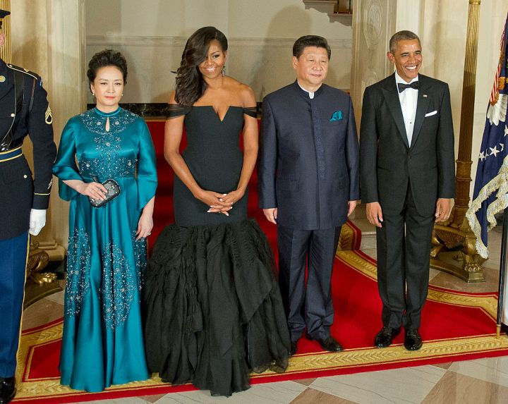 MICHELLE AND BARACK OBAMA AT THE CHINESE PRESIDENT XI JINPING STATE VISIT, 2015