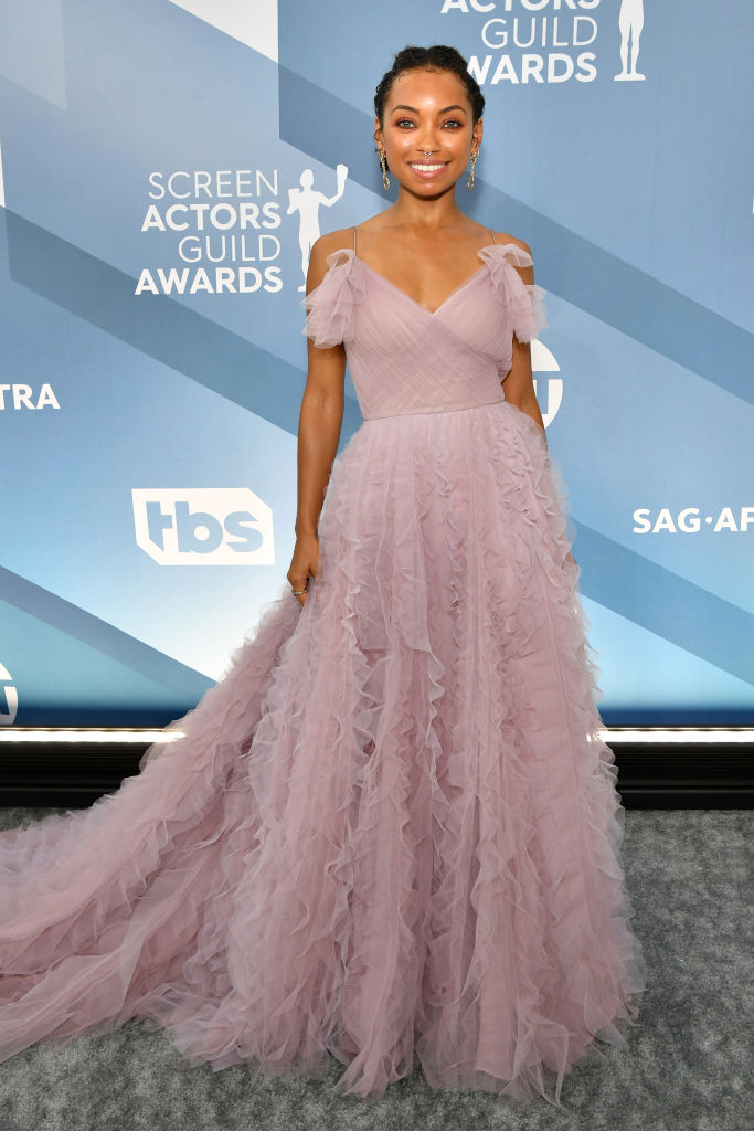 LOGAN BROWNING AT THE 26TH ANNUAL SCREEN ACTORSGUILD AWARDS, 2020