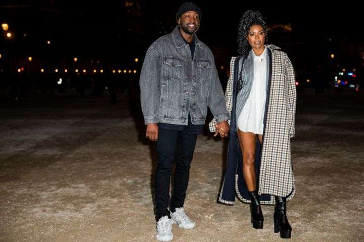 GABRIELLE UNION AND DWAYNE WADE AT THE ACNE STUDIOS SHOW, 2020