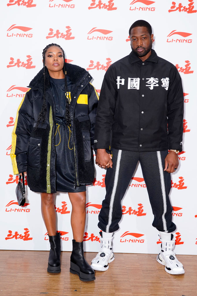 GABRIELLE UNION AND DWAYNE WADE AT THE LI-NING SHOW, 2020