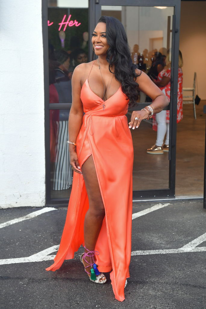KENYA MOORE AT MARLO HAMPTON'S HER HAIR COLLECTION SOFT LAUNCH, 2019