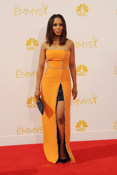 KERRY WASHINGTON AT THE 66TH ANNUAL PRIMETIME EMMY AWARDS, 2014