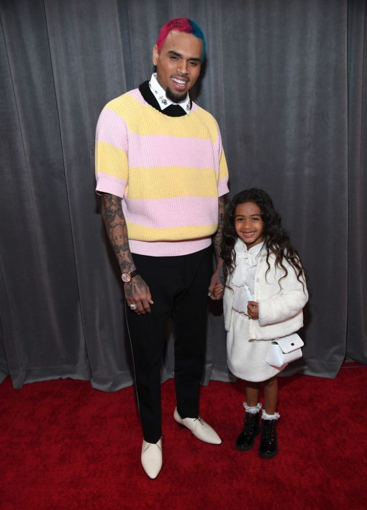 CHRIS AND ROYALTY BROWN AT THE 62ND ANNUAL GRAMMY AWARDS, 2020