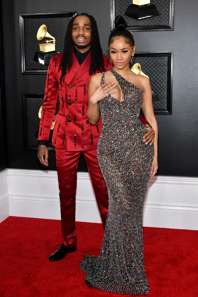 QUAVO AND SAWEETIE AT THE 62ND ANNUAL GRAMMY AWARDS, 2020