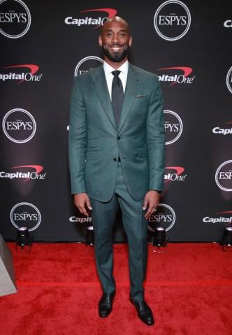 kobe bryant 2019 espys teal suit