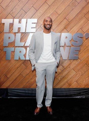 kobe bryant grey gray suit players tribune