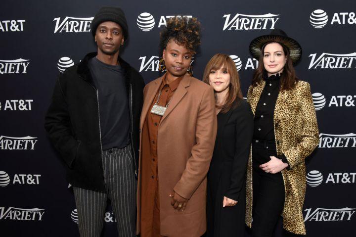 Edi Gathegi, Mudbound director Dee Rees, Rosie Perez and Anne Hathaway