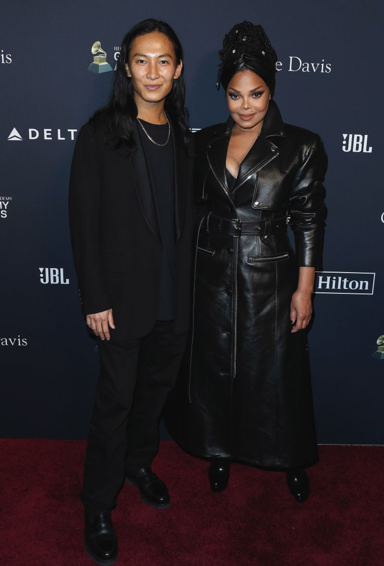 Alexander Wang and Janet Jackson arrive at The Recording Academy And Clive Davis' 2020 Pre-GRAMMY Gala held at The Beverly Hilton Hotel on January 25, 2020 in Beverly Hills, Los Angeles, California, United States.