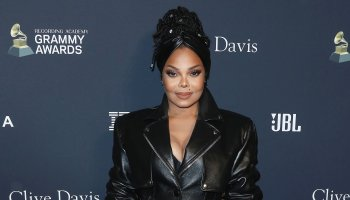 Singer Janet Jackson wearing Alexander Wang arrives at The Recording Academy And Clive Davis' 2020 Pre-GRAMMY Gala held at The Beverly Hilton Hotel on January 25, 2020 in Beverly Hills, Los Angeles, California, United States.