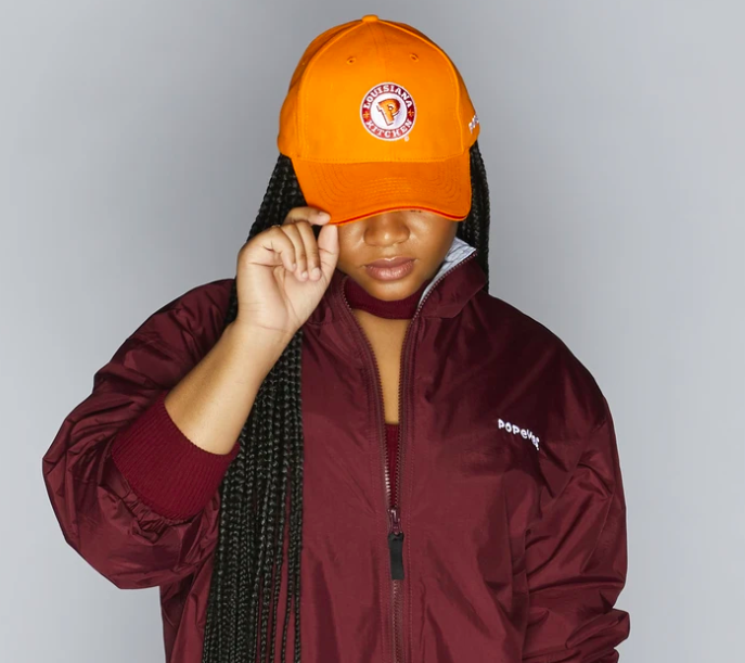 POPEYES UNIFORM ORANGE CAP ($20)