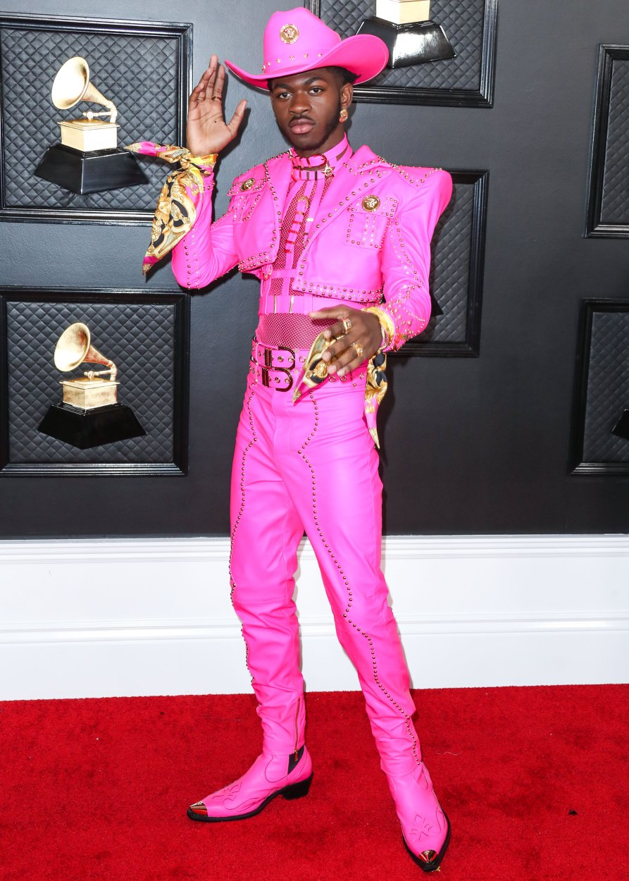 Lil Nas X arrives at the 62nd Annual GRAMMY Awards held at Staples Center on January 26, 2020 in Los Angeles, California, United States.