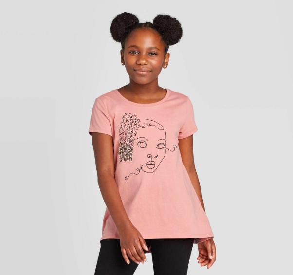 Well Worn Kids' Girl With Braids Short Sleeve Crewneck T-Shirt ($12)