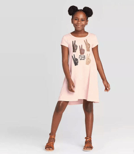 Well Worn Kids' Beauty In Every Shade High Low Dress ($18)