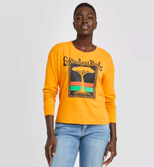 Women's Embrace Your Roots Long Sleeve T-Shirt ($15)