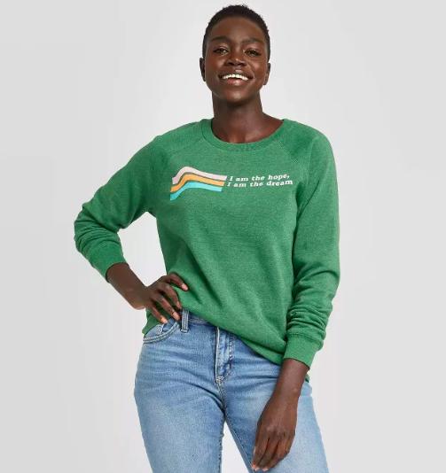 Women's I Am The Hope/I Am The Dream Fleece Pullover Sweatshirt ($18)