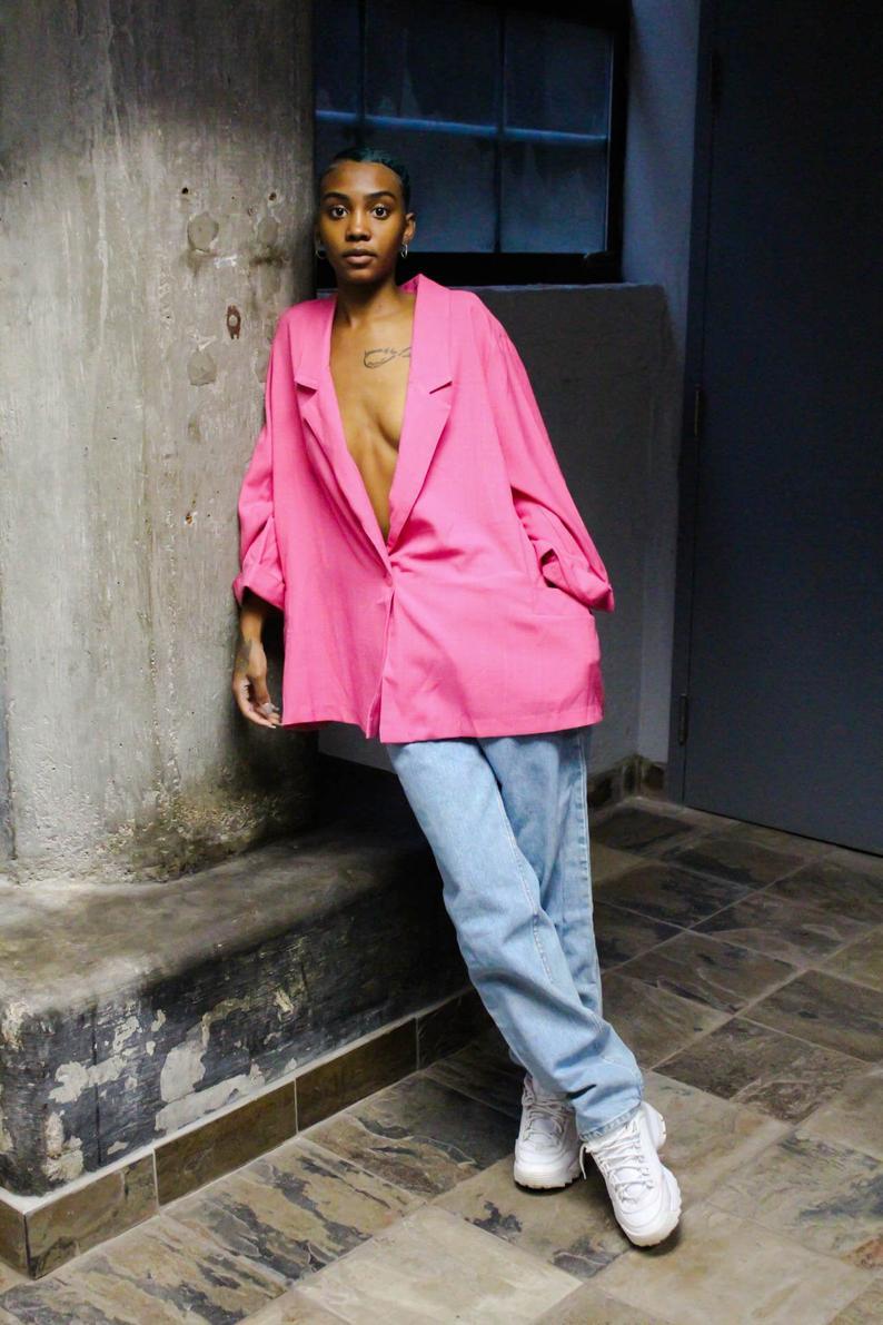 Pink Fyre Vintage Blazer