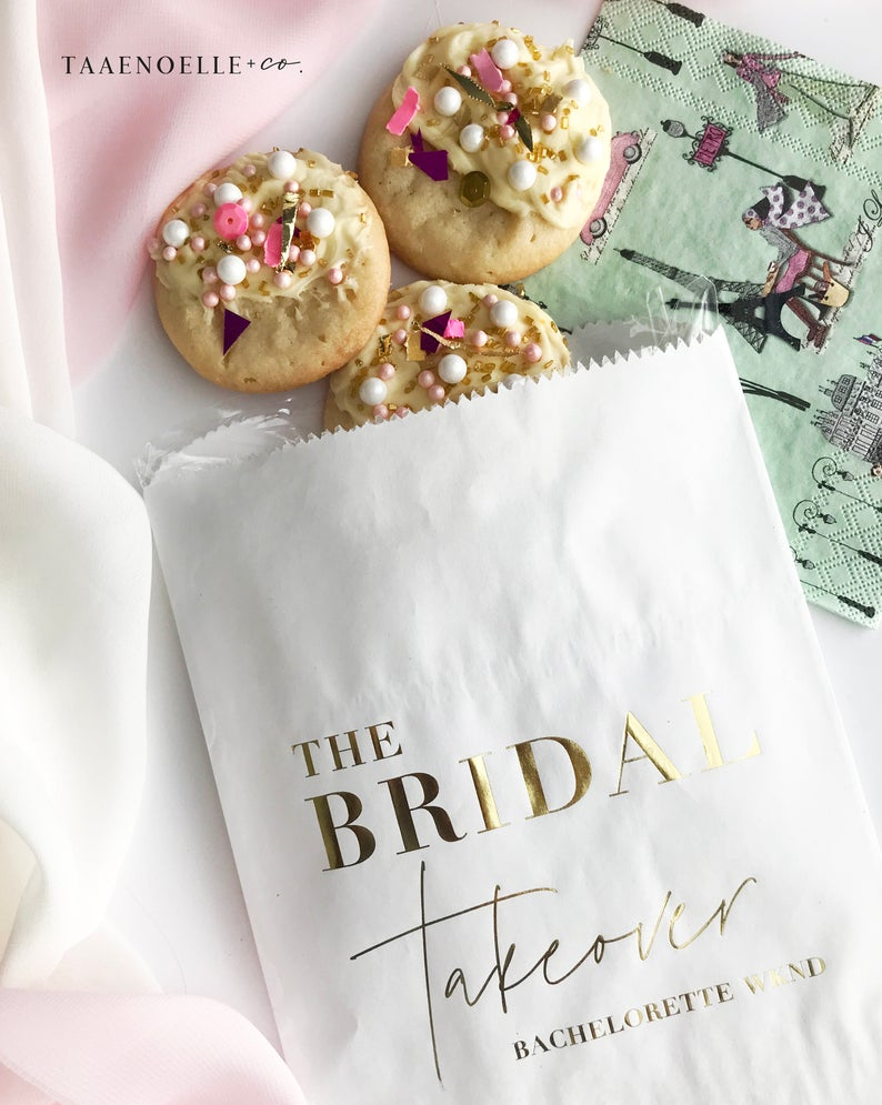 Wedding Treat Bags | Treat Bags | Bachelorette Gift Bag | Bachelorette Party | Party Favor Bags | Bridal Shower Gifts | Set of 10