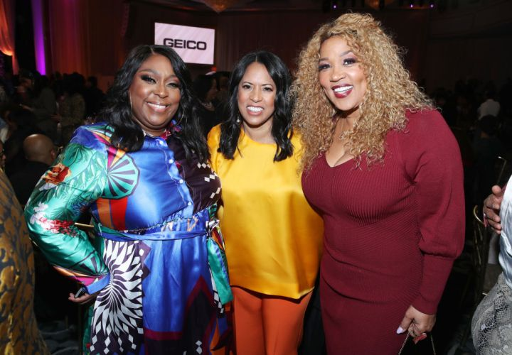 Loni Love, Essence CEO Michelle Ebanks and Kym Whitley