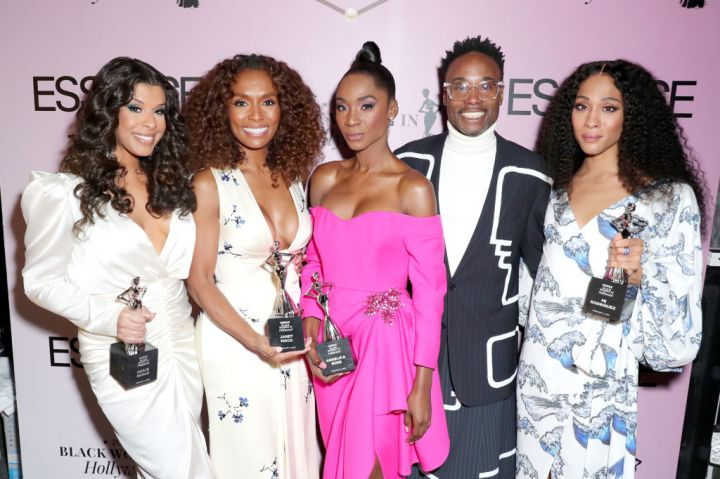 ailie Sahar, Honoree Janet Mock, Honoree Angelica Ross, Billy Porter, and Honoree Mj Rodriguez