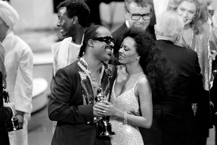 Diana Ross and Stevie Wonder 1985