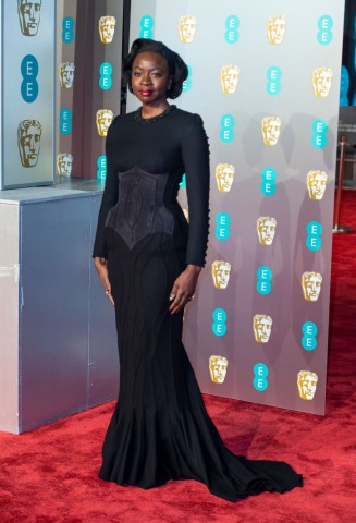 Danai Gurira attends the EE British Academy Film Awards at...