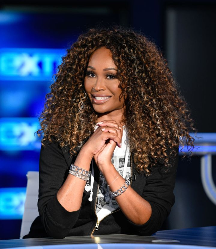 CYNTHIA BAILEY ON THE SET OF 'EXTRA', 2019
