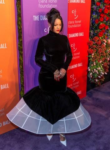 Rihanna attends 5th Annual Diamond Ball benefiting the Clara...