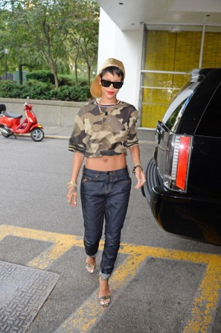 Celebrity Sightings In New York City - August 14, 2013
