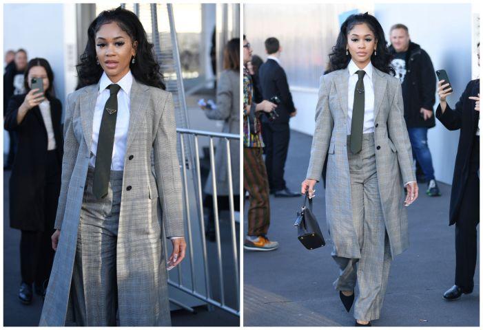 Saweetie at Milan Fashion Week