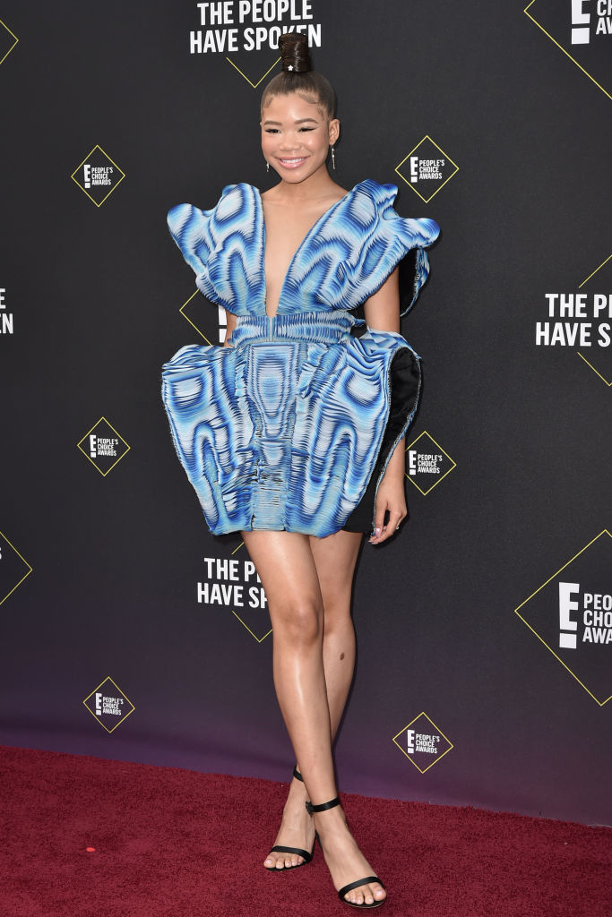 STORM REID AT THE E! PEOPLE'S CHOICE AWARDS, 2019