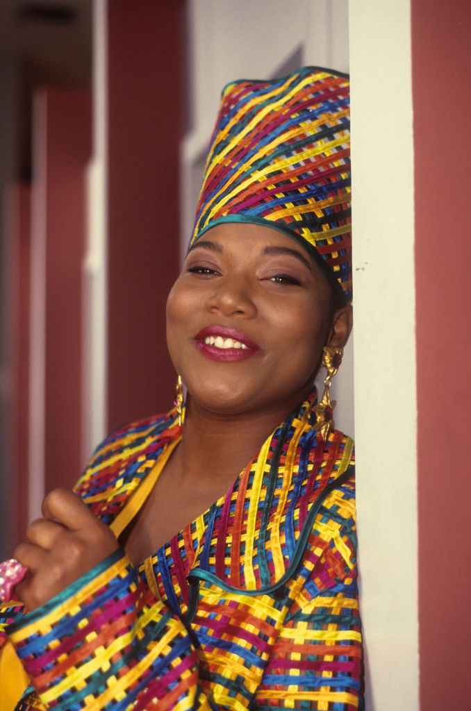 """QUEEN LATIFAH ON THE SET OF """"FLY GIRL"""", 1991"""