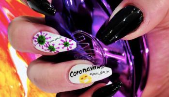Coronavirus nails/ Sassy Nails Inc