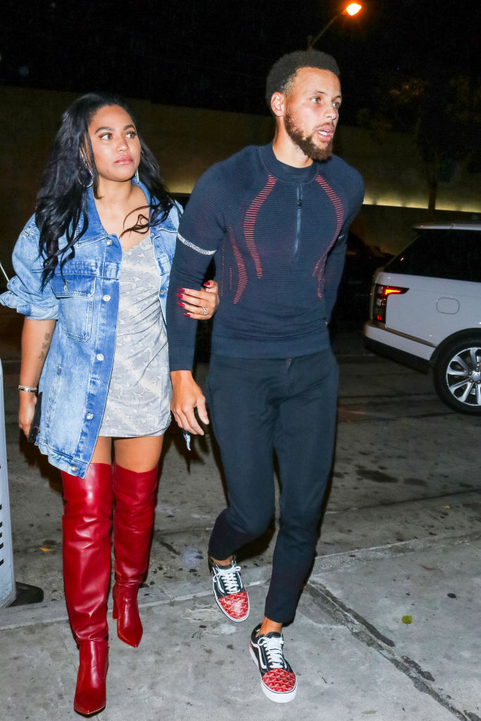 AYESHA CURRY AND HER HUSBAND IN LA, 2019
