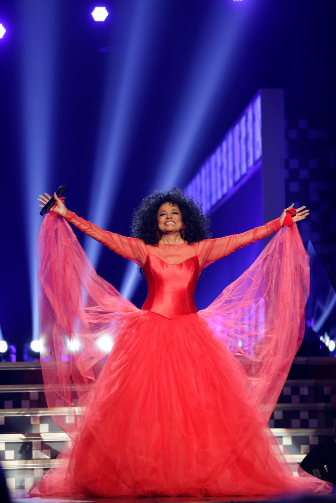 DIANA ROSS AT THE 61ST ANNUAL GRAMMY AWARDS,