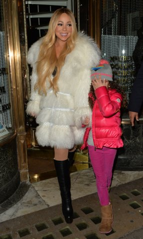 Mariah Carey Seen Leaving Mr Chow Restaurant