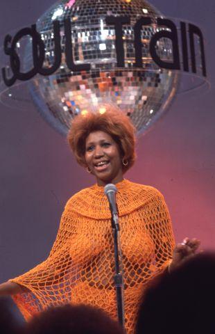 Aretha Franklin performs on Soul Train.