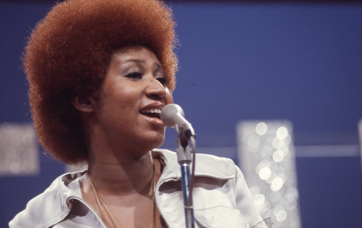Aretha Franklin performs on Soul Train.