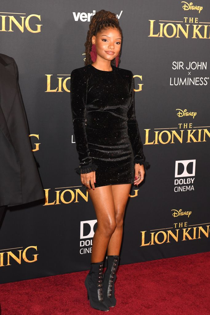 HALLE BAILEY AT THE LION KING WORLD PREMIERE, 2019