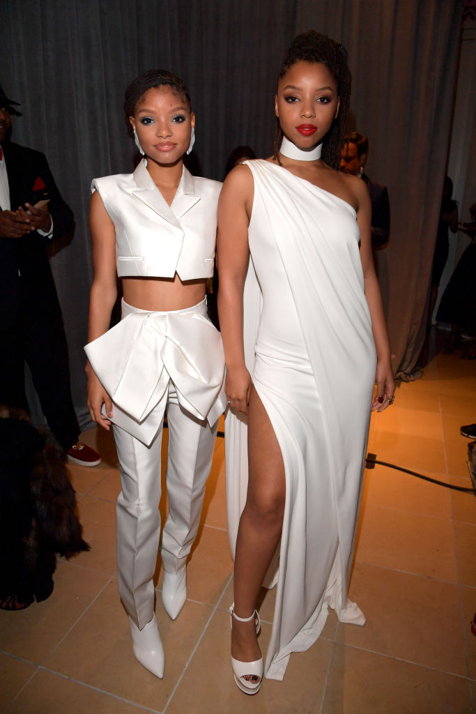 HALLE AND CHLOE BAILEY AT THE PRE-GRAMMY GALA, 2019