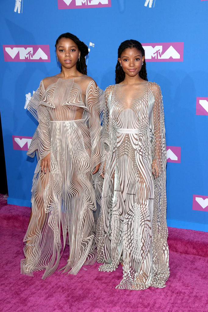 HALLE AND CHLOE BAILEY AT THE MTV VIDEO MUSIC AWARDS, 2018