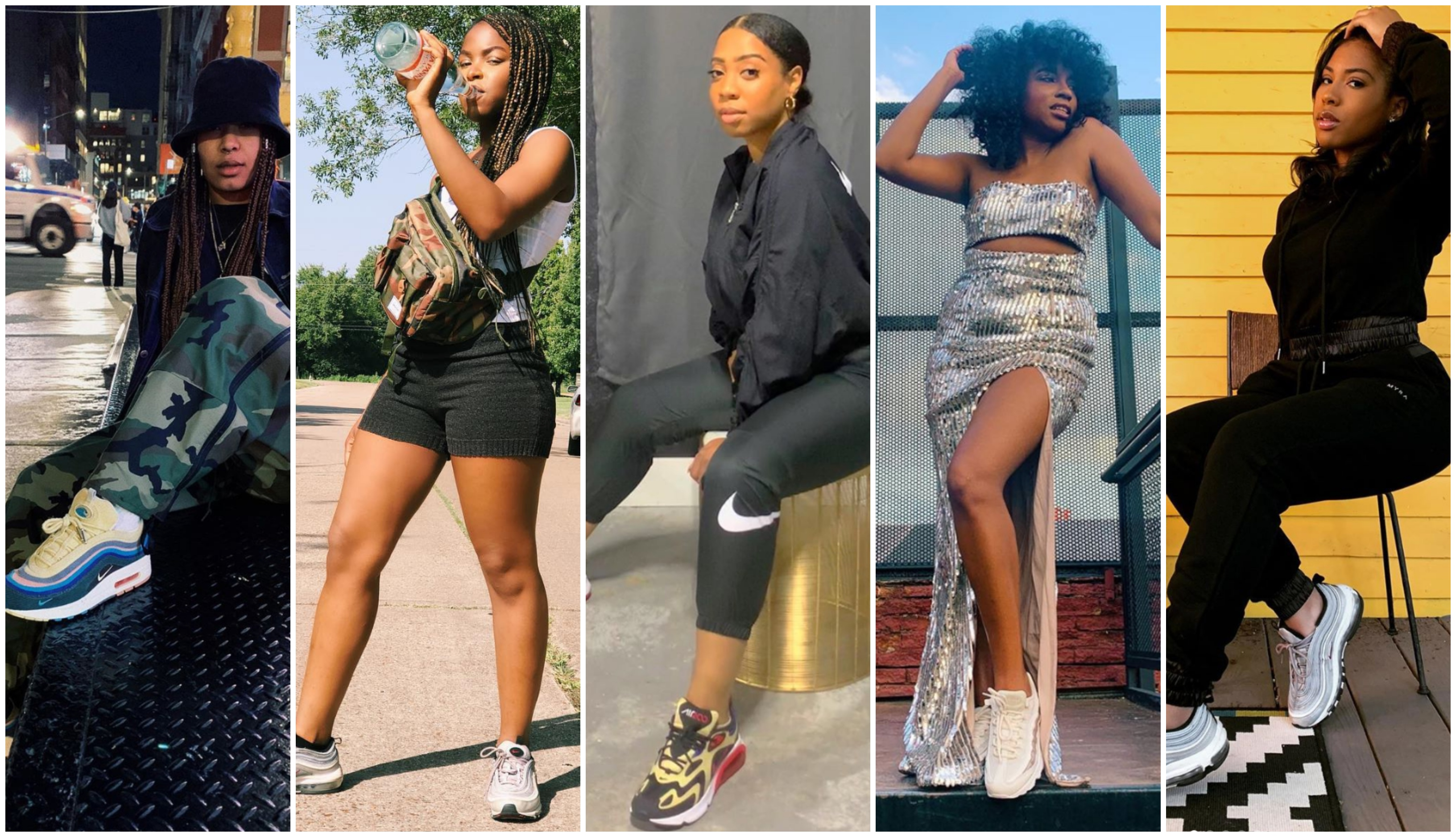 Black Women Wearing Air Max Sneakers