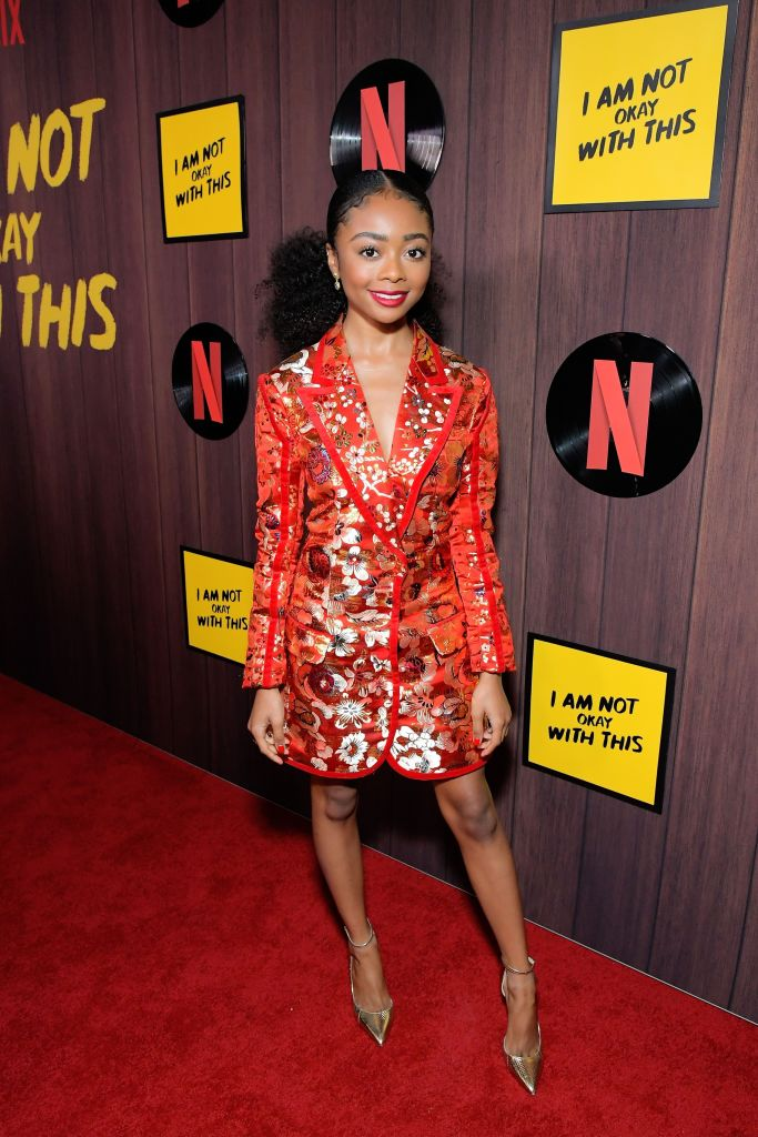 "SKAI JACKSON AT THE PREMIERE OF NETFLIX'S ""I AM NOT OKAY WITH THIS,"" 2020"
