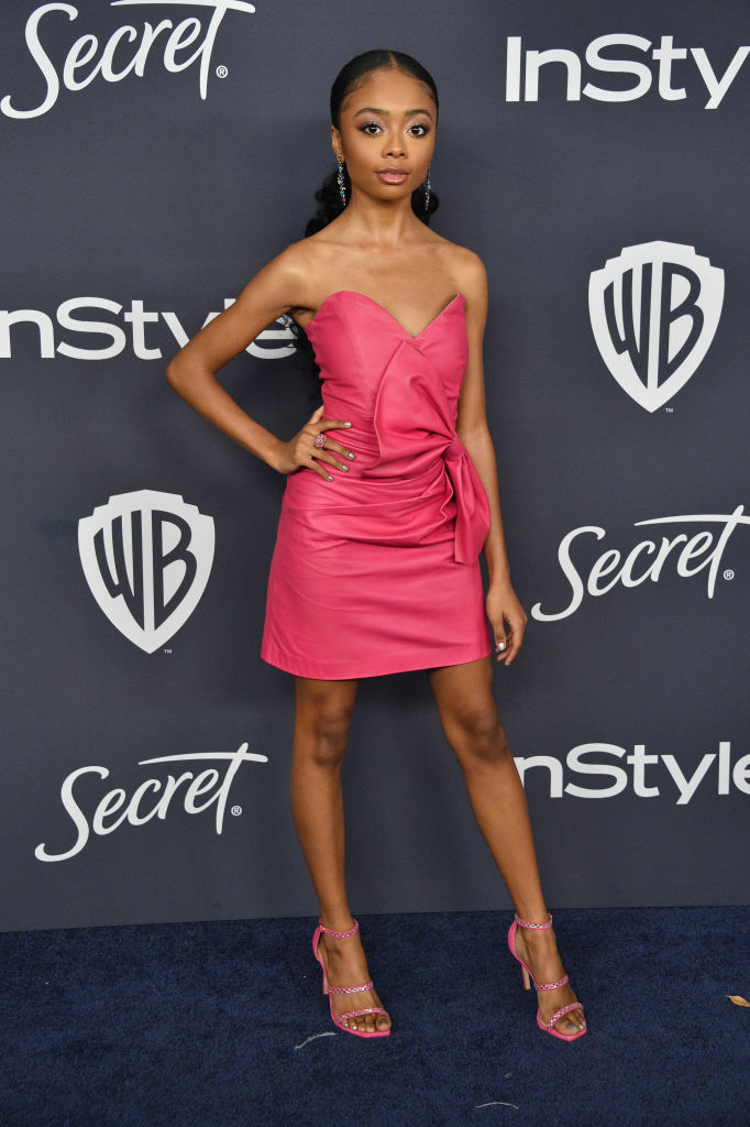 SKAI JACKSON AT THE 21ST ANNUAL WARNER BROS. AND INSTYLE GOLDEN GLOBE AFTER PARTY, 2020