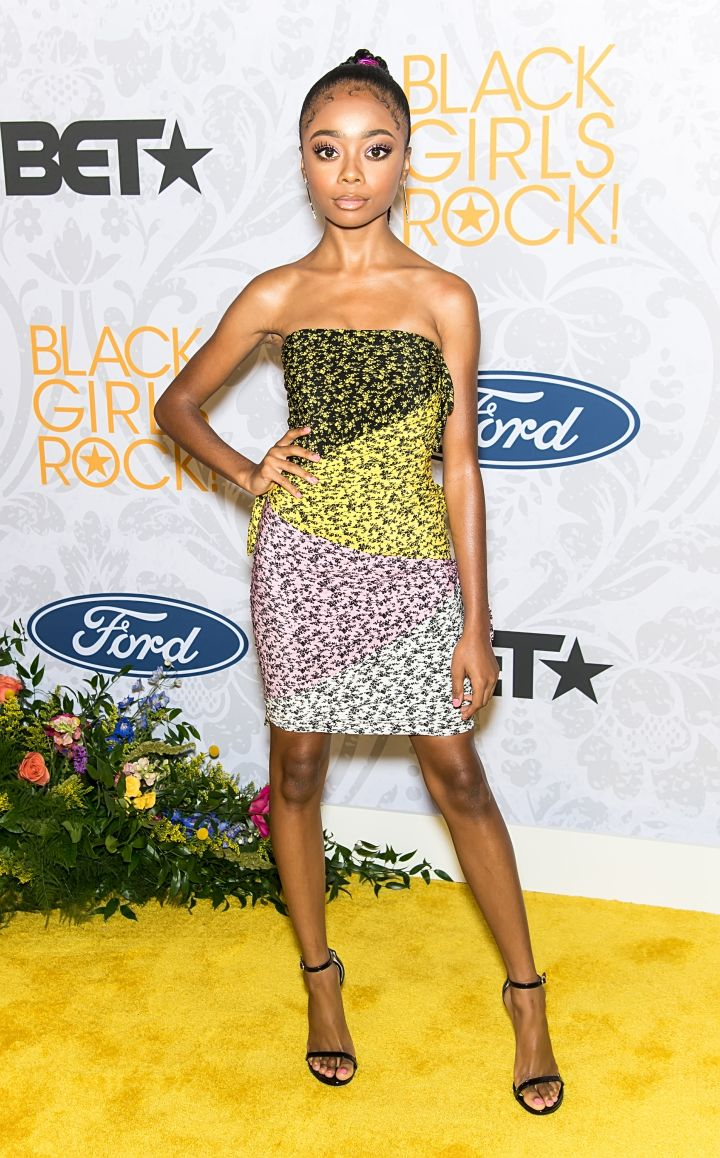 SKAI JACKSON AT BLACK GIRLS ROCK!, 2019
